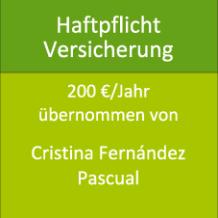 Haftpflicht Versicherung 200 €/Jahr übernommen von Cristina Fernández Pascual