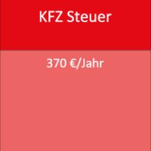 KFZ Steuer 370 €/Jahr