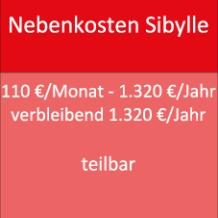 Nebenkosten Sibylle 110 €/Monat - 1.320 €/Jahr verbleibend 1.320 €/Jahr teilbar