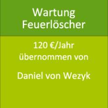 Wartung Feuerlöscher 120 €/Jahr übernommen von Daniel von Wezyk