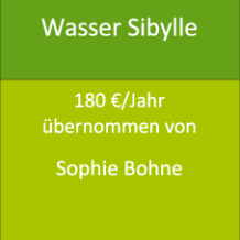 Wasser Sibylle 180 €/Jahr übernommen von Sophie Bohne