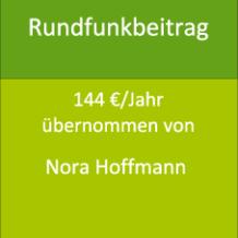 Rundfunkbeitrag 144 €/Jahr übernommen von Nora Hoffmann